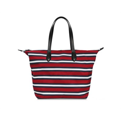 MARIA TOTE BAG RED STRIPE GRAFHAN