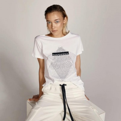ACCESS Βαμβακερή μπλούζα με τύπωμα - S1-2140