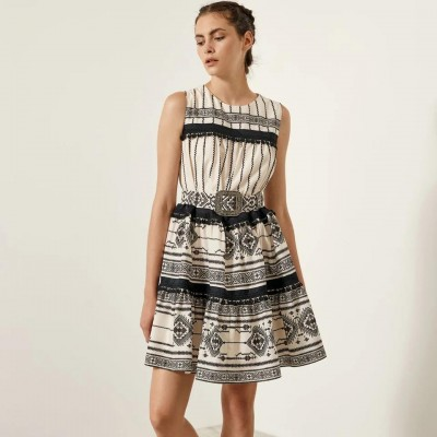 ACCESS Αμάνικο φόρεμα με έθνικ μοτίβο - S1-3022