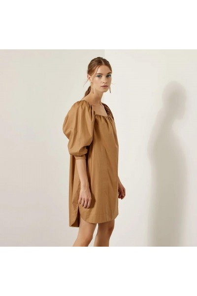 ACCESS Φόρεμα με τετράγωνη λαιμόκοψη και φουσκωτά μανίκια  S1-3035