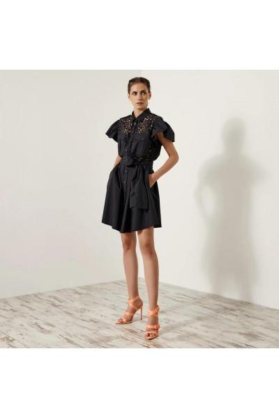 ACCESS Σεμιζιέ φόρεμα με laser cut σχέδιο - S1-3025