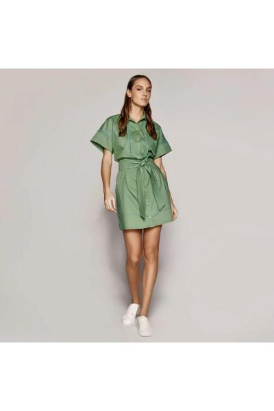 ACCESS Σεμιζιέ φόρεμα με αζούρ κέντημα - S1-3069