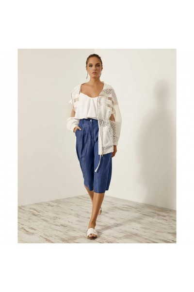 ACCESS Ζακέτα με broderie anglaise - S1-1007
