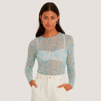 NA-KD BACK CUT MESH TOP