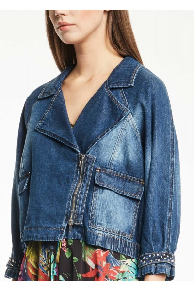 GAUDI DENIM BIKER JACKET