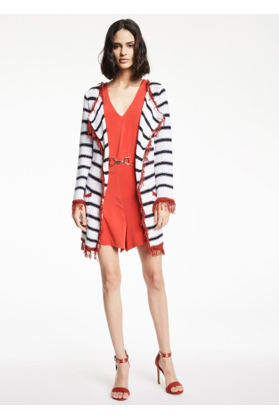 GAUDI STRIPED KNITTED CARDIGAN
