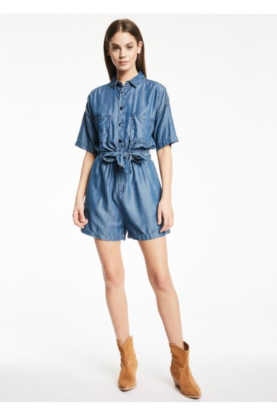 GAUDI SHORT DENIM JUMPSUIT