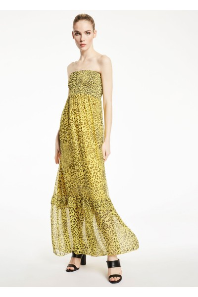GAUDI DRESS SILK BLEND ANIMAL PRINT