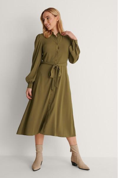 NA-KD BALLOON SLEEVE MIDI Φόρεμα 1018-007260