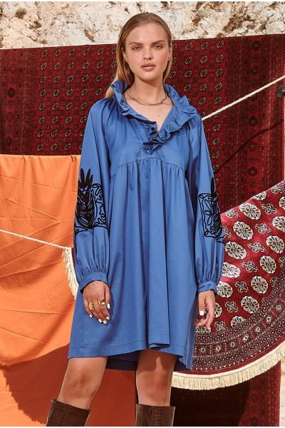 NEMA HILARIA Φόρεμα με κέντημα στο μανίκι Ν408-05900