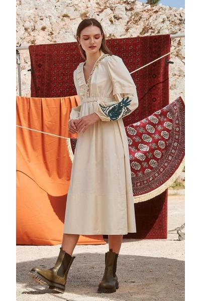 NEMA OCTAVIA Φόρεμα με κέντημα στο μανίκι N417-1420