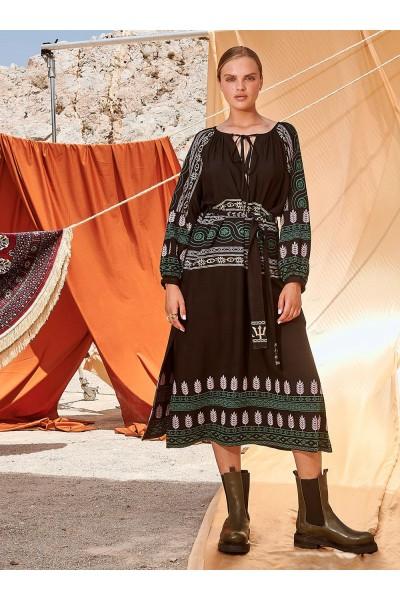 NEMA ANTONIA Maxi Φόρεμα με κεντήματα 1420-7N426