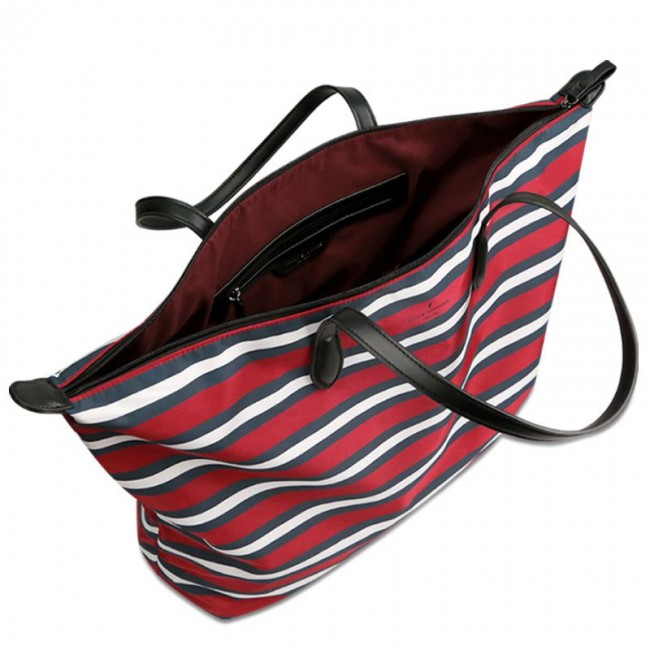 ALEXANDRA TOTE BAG RED STRIPE GRAFHAN