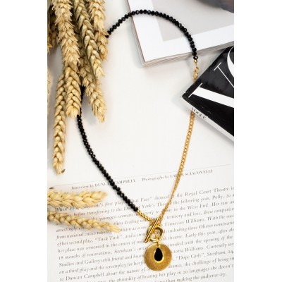 HALF CHAIN DROP & COIN NECKLACE