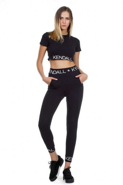 KENDALL+KYLIE LOGO WAIST LEGGINGS KKW341714