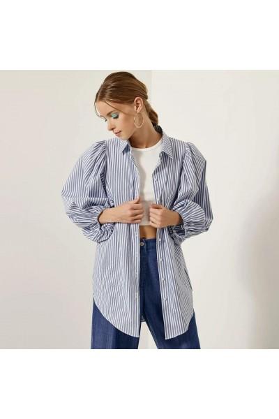 ACCESS Ριγέ πουκάμισο με φουσκωτά μανίκια S1-7011