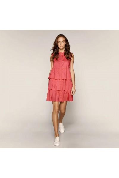 ACCESS Αμάνικο φόρεμα με βολάν επίπεδα - S1-3019