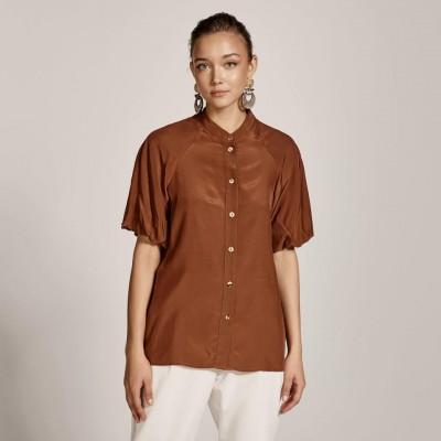 ACCESS Κοντομάνικο πουκάμισο με φουσκωτά μανίκια - S1-7040