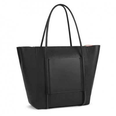 TOUS EMPIRE LEATHER SHOPPING BAG BLACK