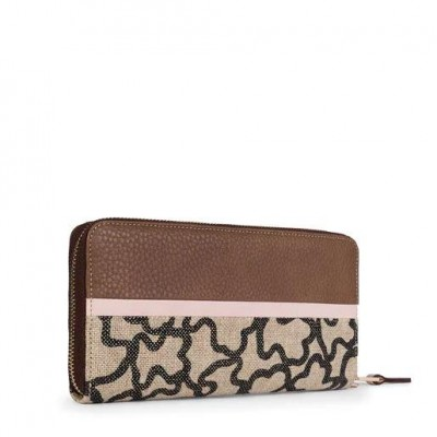 TOUS ELICE NEW WALLET BROWN-PINK