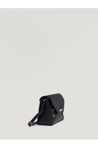 SISLEY Χιαστί Τσάντα με Τρούκς σε μαύρο χρώμα