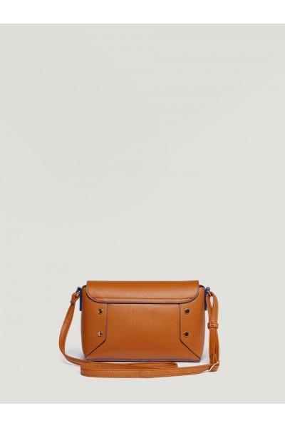 SISLEY Χιαστί Τσάντα με Τρούκς σε καφέ χρώμα
