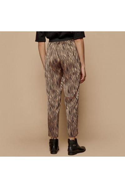 ACCESS Παντελόνι zebra print με λάστιχο - W1-5067