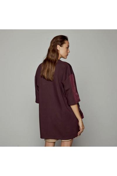 ACCESS Φόρεμα φούτερ με βολάν επίπεδα - W1-3014