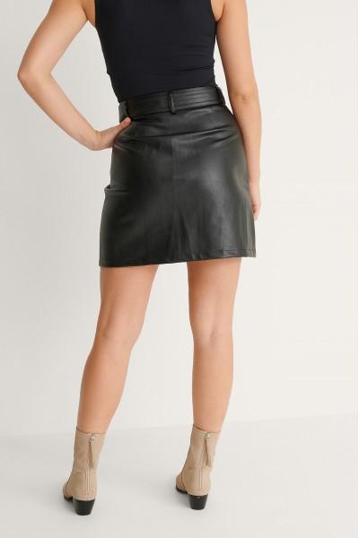 NA-KD Mini  Φούστα με ζώνη από οικολογικό δέρμα 1018-007273