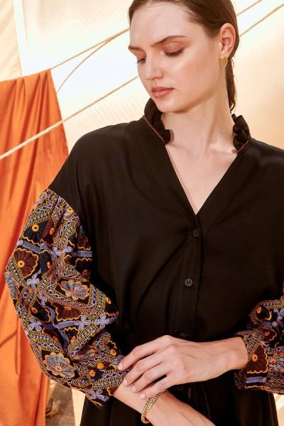 NEMA LUCRETIA MAXI Φόρεμα Puff κεντημένο μανίκι N431-08000
