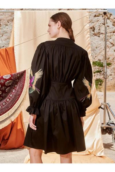 NEMA AMATA Mini Φόρεμα με εντυπωσιακό κέντημα στο μανίκι 1420-7N409