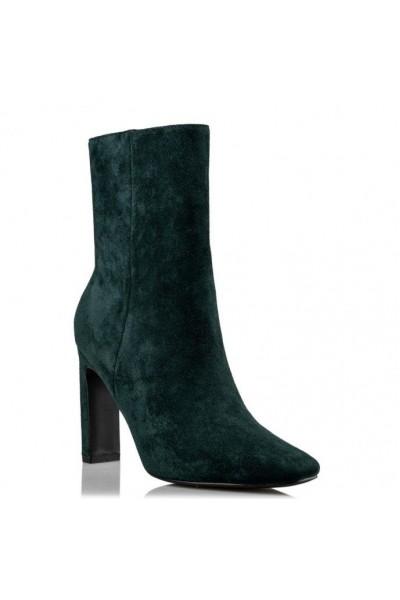 ENVIE SHOES Μποτάκια Σουέντ σε πράσινο χρώμα