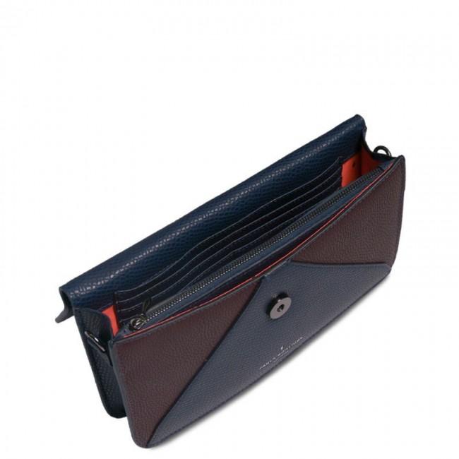 BONITA CLUTCH BAG NAVY/BURGUNDY CLAPHAM
