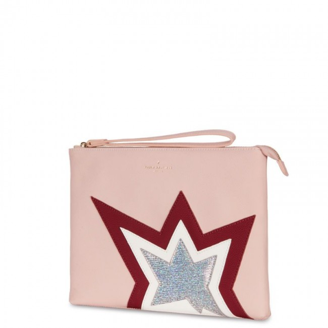 STEPHANIE CLUTCH BAG PINK HOLOGRAM